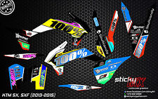 2013 2014 2015 KTM SX SXF 125 150 250 350 450 MX graphics motocross decals kit