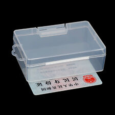 1x Clear Plastic Transparent With Lid Storage Box Collection Container Case