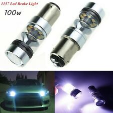 2x 1157 Cree LED 100W 20 SMD P21W BA15D White Car Brake Backup Lights Bulbs