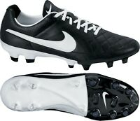 Mens Nike Tiempo Legacy FG Black Leather Football Boots Cleats UK 6.5 - UK 11