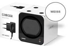 STARTERSET: Weißer Boxy Fancy Brick Uhrenbeweger mit Stromadapter von Beco