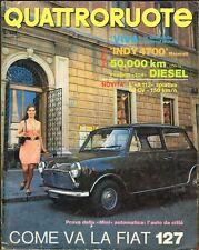 Quattroruote 185-1971 Mini automatica, Vauxhall Viva SL, Maserati Indy 4700