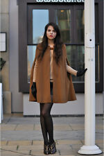 BNWT Zara cape coat - handmade wool - camel/tobacco SOLD OUT!