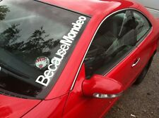 Because MONDEO FORD Windscreen Sticker DRIFT MOD GAS STANCE  550x75mm