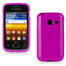 Premium Pink Jelly Gel Case Cover for Samsung Galaxy Y Duos / S6102 + Screen G