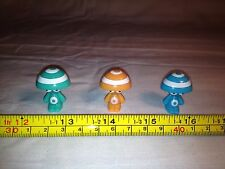 GOGOS CRAZY BONES Rare Collectable Figures Collection Of 3 Cute Stripy Hat Men