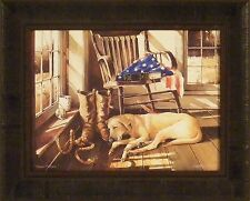 FOREVER FAITHFUL by John Rossini 17x21 FRAMED PRINT Yellow Labrador Lab Dog