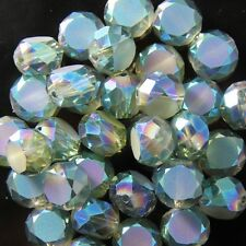 10pcs 10mm Swarovski  Flat drum Crystal beads E hyaline-green