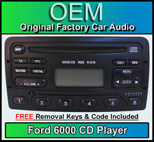 Ford Transit CD player radio, Black Ford 6000 car stereo + removal keys & code