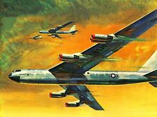 PAINTINGS AIRPLANE AEROPLANE USAF FORMATION ART POSTER PRINT LV2995