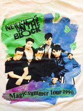Vtg New Kids On The Block Tshirt Magic Summer Tour 1990 Screen stars L
