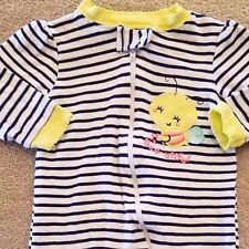 SWEET! GARANIMALS 0-3 MONTH STRIPED BEE FOOTED SLEEP N PLAY OUTFIT