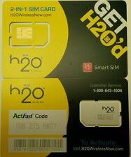 H2O Dual Smart SIM.  AT&T NETWORK UNLIMITED TALK TEXT Web. No need Configuration