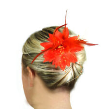 Hair Flowers Fashion Accessories Ladies Fascinators Clip Head Piece Slide Womens