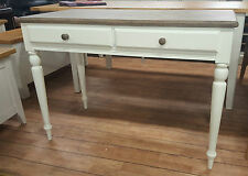 JOHN LEWIS KITSON RANGE PAINTED OAK 2 DRAWER DESK CONSOLE TABLE