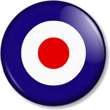 "MOD RAF Target 1"" 25mm Pin Button Badge Royal Air Force Rocker Military Retro"
