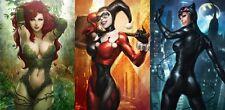"Harley Quinn Batman Arkham City Fabric poster 47"" x 24"" Decor 18"