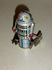 Tin Litho Walking Space Wind Up Robot 7