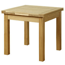 Solid Oak Extending Dining Table Room Furniture Extend Extendable 90cm to 150cm