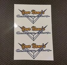 Personalized CLEAR Custom Shop Waterslide Guitar Decals (Set of 3)