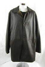Gimo's Made in Italy Soft Leather Coat Mid Length with Plush Lining  Size  XL