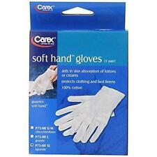 Carex Health Brands Soft Hands Cotton Gloves, Large New P75-00