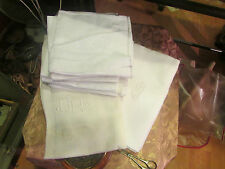 2 ancienne nappe + 12 serviettes damassé monogramme gb brodé coton art deco