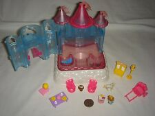 Hello Kitty Light Up Crystal Castle -- Miniature Playset with Figures, Furniture