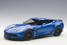 AUTOART CHEVROLET CORVETTE C7 Z06 LAGUNA BLUE TINTCOAT Composite Model 1:18*New!