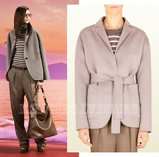 $2,400 GUCCI COAT GREY SOFT WOOL ANGORA DECONSTRUCTED JACKET BELTED IT 40 US 4