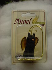 SCHIPPERKE dog ANGEL ORNAMENT Figurine PAINTED Statue NEW Christmas black puppy