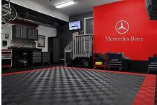 Mercedes Benz Star & Text combo Garage Sign 6 Feet Long  Brushed Silver