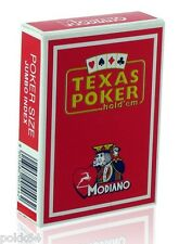 Jeu de 52 cartes POKER MODIANO DISCO 100% Plastique 54 cartes Jumbo Rouge 05462