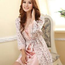 Trendy Women's Rayon Silk  Babydolls Robes Sleepwear Sexy Nightgown Dress New