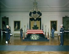 John F. Kennedy, Kennedy lies in repose in the East Room of the White House # 13
