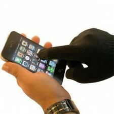 Mens Touch Screen Magic Gloves for IPod, IPad, Phones, Black