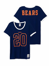 NFL Victoria Secret Pink Chicago Bears Mesh Jersey Tee Shirt BLING Football