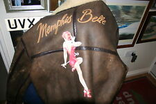 MEMPHIS BELLE B3 LEATHER FLYING JACKET B17 PILOT FLIGHT GENUINE FILM AIRCREW