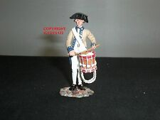 BRITAINS 18027 AMERICAN REVOLUTION CONTINENTAL LINE DRUMMER METAL TOY SOLDIER
