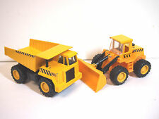 "Soma Mighty Wheels 5"" Long Construction Dump Truck 1998 & FRONT END LOADER"