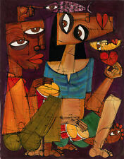 "CUBAN ART #076 **DIEGUEZ** UNA NOCHE EN LA HABANA 28X36"" SIGNED ON CANVAS"