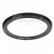 67-77mm 67mm-77mm 67 to 77 Metal Step Up Lens Filter Ring Stepping Adapter Black
