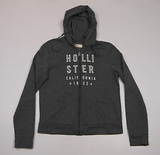 Hollister Womens Grey Zip front Hoody , long sleeved Size Large