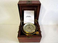 1-MChZ (POLJOT) CHRONOMETER VINTAGE RUSSIA USSR NAVY MARINE SHIP SUBMARINE CLOCK