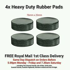 4x Heavy Duty Rubber Lifting Pads - 76mm x 25mm + FREE 1st Class Delivery