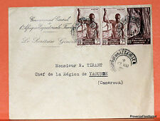 AOF CAMEROUN LETTRE  1949 TIMBRES   OBLITERES  201CA204