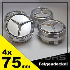 4x75mm MERCEDES-BENZ Felgendeckel Emblem Silber AMG Edition One