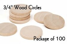 """LOT of 100 ~ 3/4"""" Inch Wood Circle ~ Craft Disk ~ Pendants & Magnets ~ by PLD"""