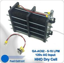 HHO Dry Cell - Big 62 Plate 5-10+ LPM 120v AC Power (Massive Hydrogen Generator)
