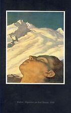 Einsam Kunstdruck 1926 v. Karl Sterrer * † Wien Berge Einsamkeit träumen Traum +